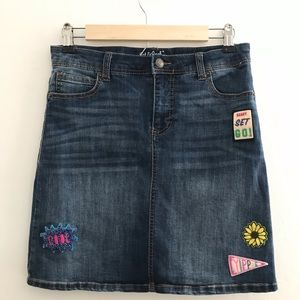 Cat & Jack Girls Denim Jean Skirt Size XL (14-16)